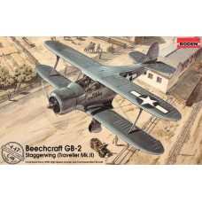 "Roden 1/48 Американский военно-транспортный самолет Beechcraft GB-2 ""Staggerwing"" (Traveller Mk.II). № 447"