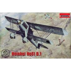 Roden 1/48 Немецкий истребитель Heinkel He-51B-1. № 452