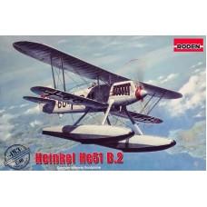Roden 1/48 Немецкий истребитель на поплавках Heinkel He-51B-2. № 453