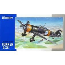 Special Hobby 1/48 Истребитель Fokker D.XXI 3. sarja (с двигателем Mercury) ВВС Финляндии. № 48078