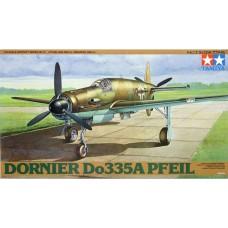 Tamiya 1/48 Немецкий истребитель-бомбардировщик Do-335A Pfeil. № 61074