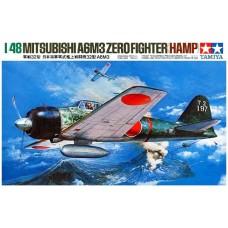 Tamiya 1/48 Японский лёгкий палубный истребитель Mitsubishi A6M3 Zero Fighter (HAMP). № 61025