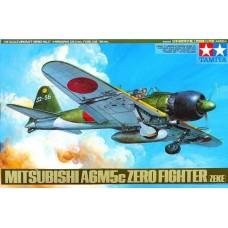 Tamiya 1/48 Японский лёгкий палубный истребитель Mitsubishi A6M5c Zero Fighter (ZEKE). № 61027
