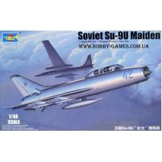 """Trumpeter 1/48 Советский учебно-тренировочный самолет Су-9У """"Maiden"""". № TRU_02897"""