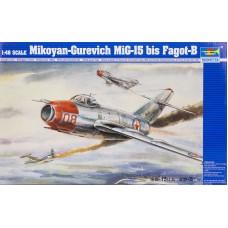 """Trumpeter 1/48 Советский истребитель Миг-15 Бис """"Fagot-B"""". № 02806"""