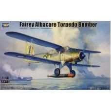 Trumpeter 1/48 Британский палубный торпедоносец-бомбардировщик Fairey Albacore Mk I. № TRU_02880