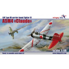 "Wingsy Kits 1:48 Японский лёгкий палубный истребитель Type 96 IV Mitsubishi A5M4 ""Claude"". № D5-02"