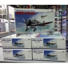 "Wingsy Kits 1:48 Японский лёгкий палубный истребитель Type 96 II Mitsubishi A5M2b ""Claude"" (late version). № D5-01"