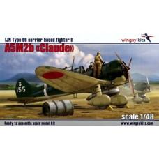 "Wingsy Kits 1:48 Японский лёгкий палубный истребитель Type 96 II Mitsubishi A5M2b ""Claude"" (early version). № D5-03"