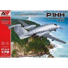 A&A Models 1/72 Итальянский БПЛА, Piaggio Aerospace P.1HH HammerHead UAV Demostrator. № 7209