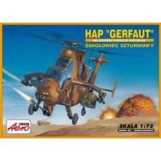 """AEROPLAST 1/72 Ударный вертолет огневой поддержки для армии Франции HAP """"Gerfaut"""". № A-110"""