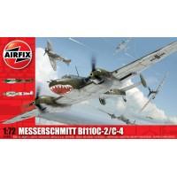 Airfix 1/72 Немецкий истребитель-бомбардировщик Messerschmitt Bf.110C-2/C-4. № A03080