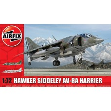 Airfix 1/72 Американский многоцелевой штурмовик с ВВП AV-8A Harrier II. № A04057