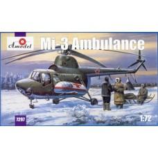 Amodel 1/72 Советский вертолет Ми-3 (санитарный). № 7297