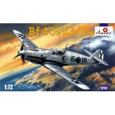 Amodel 1/72 Немецкий истребитель Messerschmitt Bf.109E-3/E-4. № 72117