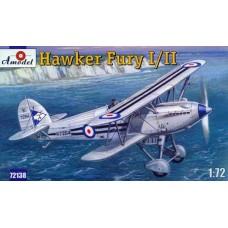 Amodel 1/72 Британский истребитель Hawker Fury I (II). № 72138