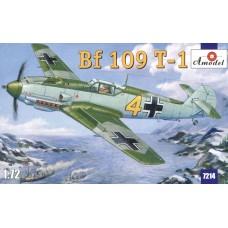 Amodel 1/72 Немецкий истребитель-бомбардировщик Messerschmitt Bf.109T-1. № 7214