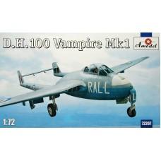 Amodel 1/72 Британский истребитель Vampire FB.Mk.1. № 72207