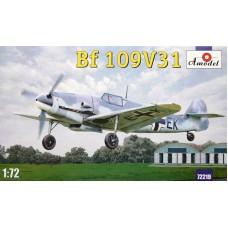 Amodel 1/72 Немецкий истребитель Messerschmitt Bf.109V31. № 72219