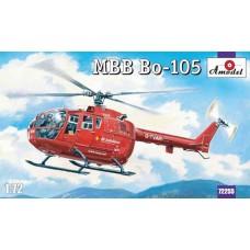 """Amodel 1/72 Немецкий многоцелевой вертолет MBB Bo-105 """"Санитарный"""". № 72255"""