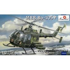 Amodel 1/72 Немецкий многоцелевой ударный вертолет MBB Bo-105 (военная модификация). № 72259