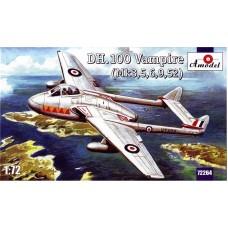 Amodel 1/72 Британский истребитель Vampire FB.Mk.3/5/9/59. № 72264