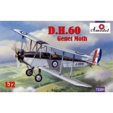 Amodel 1/72 Британский двухместный биплан De Havilland DH.60 Genet Moth. № 72281