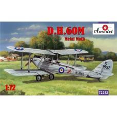 Amodel 1/72 Британский двухместный биплан De Havilland DH.60M Metal Moth. № 72282