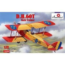 Amodel 1/72 Британский двухместный биплан De Havilland DH.60T Moth Trainer. № 72284