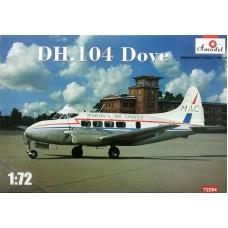 Amodel 1/72 Британский пассажирский самолёт De Havilland DH.104 Dove. № 72294