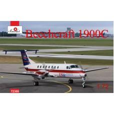 Amodel 1/72 Американский турбовинтовой самолет Beechcraft 1900C. № 72308