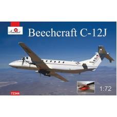 Amodel 1/72 Американский тактический военно-транспортный самолёт Beechcraft C-12J. № 72344