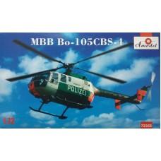 Amodel 1/72 Немецкий вертолет MBB Bo-105 CBS-4 Polizei. № 72355