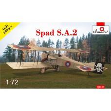 Amodel 1/72 Истребитель-биплан SPAD A.2 (ограниченный выпуск). № 7260-01