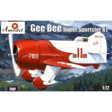 Amodel 1/72 Американский гоночный самолёт Gee Bee R-1 Super Sportster. № 7267