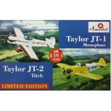 Amodel 1/72 Британские самолёты для частных полетов Taylor J.T.1 Monoplane  и  Taylor J.T.2 Titch. № 72359