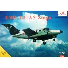 Amodel 1/72 Турбовинтовой самолет EMB-121AN Xingu на военной службе. № 72364