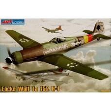 """ART model 1/72 Немецкий высотный истребитель FW Ta.152H """"Hoehenjaeger"""". AMP_7204"""