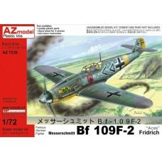 "AZmodel 1/72 Немецкий истребитель Messerschmitt Bf.109F-2 Fridrich ""Aces"". № AZ7530"