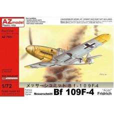 "AZmodel 1/72 Немецкий истребитель Messerschmitt Bf.109F-4 Fridrich ""Aces"". № 7531"