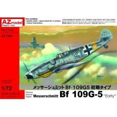 AZmodel 1/72 Немецкий истребитель Messerschmitt Bf.109G-5 Early. № AZ7445