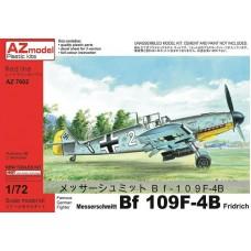 AZmodel 1/72 Немецкий истребитель-бомбардировщик Messerschmitt Bf.109F-2/B Fridrich. № AZ7602