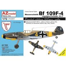 AZmodel 1/72 Немецкий истребитель Messerschmitt Bf.109F-4 Jagdgeschwader JG.3. № AZ7626