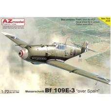 "AZmodel 1/72 Немецкий истребитель Messerschmitt Bf.109E-3 ""Over Spain"". № AZ7660"