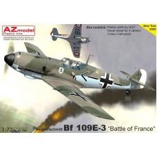 "AZmodel 1/72 Немецкий истребитель Messerschmitt Bf.109E-3 ""Battle of France"". № AZ7661"