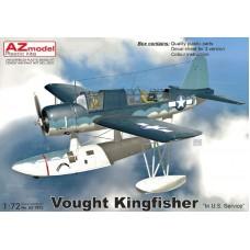 AZmodel 1/72 Американский разведывательный гидроплан Vought OS2U Kingfisher. № AZ7672