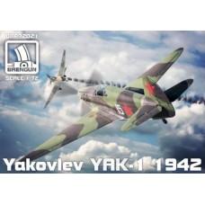 Brengun 1/72 Советский истребитель Як-1, версия 1942 года. № BRE_72021