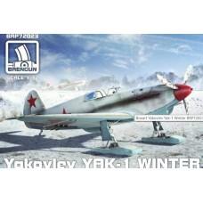Brengun 1/72 Советский истребитель Як-1, зимняя версия. № BRE_72023
