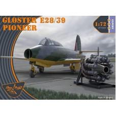 Clear Prop 1/72 Британский экспериментальный реактивный самолет GLOSTER E 28/39 PIONEER. № CP72001