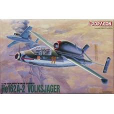 Dragon 1/72 Немецкий одномоторный реактивный истребитель He.162A-2. № 5001